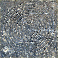 the labyrinth carving