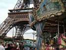 Eiffel tower and a merry-go-round